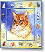 Cats Purrfection Five - Orange Tabby Metal Print by Linda Mears