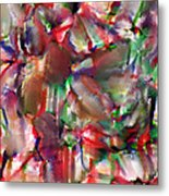 Caught In The Crowd Water Color And Pastel Metal Print by Sir Josef Social Critic - ART
