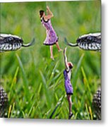 Caught In The Middle Metal Print by Betsy C Knapp