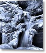 Cedar Falls In Winter Metal Print by Dan Sproul