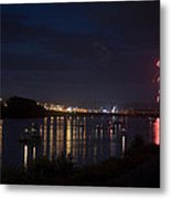 Celebrating Independence Day On The Susquehanna Metal Print by Gene Walls
