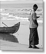 Cellphone Castaway Metal Print by Sonny Marcyan