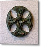 Celticross 1 Metal Print by Flow Fitzgerald