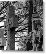 Cemetery Crosses Metal Print by Jennifer Ancker