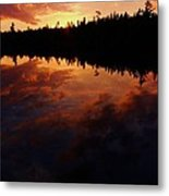 Center Pond Baxter State Park Metal Print by Tim  Canwell
