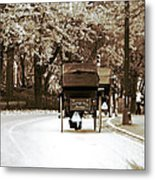 Central Park Ride Metal Print by John Rizzuto