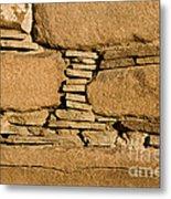 Chaco Bricks Metal Print by Steven Ralser