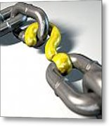 Chain Missing Link Question Metal Print by Allan Swart