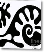 Chair Design In Black. 2013 Metal Print by Cathy Peterson