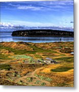 Chambers Bay Golf Course Metal Print by David Patterson