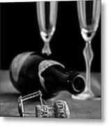 Champagne Bottle Still Life Metal Print by Edward Fielding