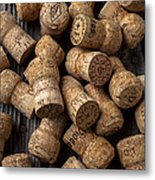 Champagne Corks Metal Print by Garry Gay