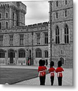 Changing Of The Guard At Windsor Castle Metal Print by Lisa Knechtel