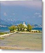 Chapel On Small Island In Posedarje Metal Print by Brch Photography