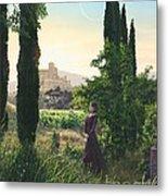 Chardonnay Wine Country Fantasy Metal Print by Stu Shepherd