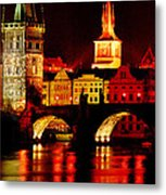 Charles Bridge Metal Print by John Galbo