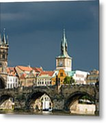 Charles Bridge Prague Metal Print by Matthias Hauser