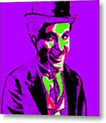 Charlie Chaplin 20130212m78 Metal Print by Wingsdomain Art and Photography