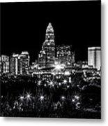 Charlotte Night Metal Print by Chris Austin