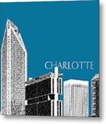 Charlotte Skyline 1 - Steel Metal Print by DB Artist