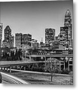 Charlotte Sunset Black And White Metal Print by Brian Young