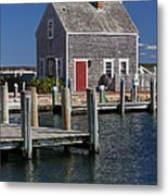 Charming Edgartown Harbor  Metal Print by Juergen Roth
