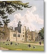 Charter House From The Play Ground Metal Print by William Westall