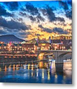 Chattanooga Evening After The Storm Metal Print by Steven Llorca