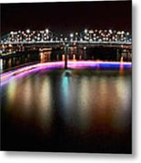 Chattanooga Holiday Boat Parade Metal Print by Steven Llorca