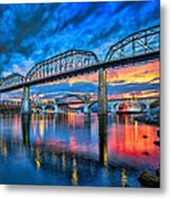 Chattanooga Sunset 3 Metal Print by Steven Llorca