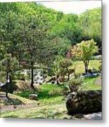 Cheekwood Japanese Garden Metal Print by Donna Melton