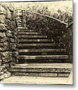 Cheekwood Stairs Cropped Metal Print by Mark Furnell