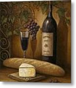 Cheese And Wine Metal Print by John Zaccheo