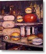 Cheese Shop Window Metal Print by R W Goetting