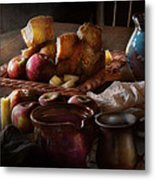 Chef - Food - A Tribute To Rembrandt - Apples And Rolls  Metal Print by Mike Savad