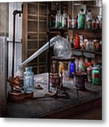 Chemist - My Retort Is Better Than Yours  Metal Print by Mike Savad