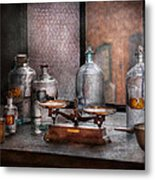 Chemist - The Art Of Measurement Metal Print by Mike Savad
