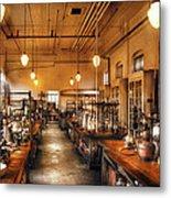 Chemist - The Chem Lab Metal Print by Mike Savad