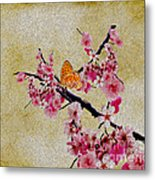 Cherry Blossoms Metal Print by Cheryl Young