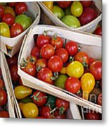 Cherry Tomatos Metal Print by Carlos Caetano
