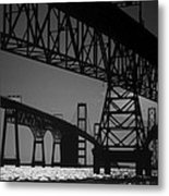 Chesapeake Bay Bridge At Annapolis Metal Print by Skip Willits