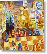 Chess And Tequila Metal Print by Mary Helmreich