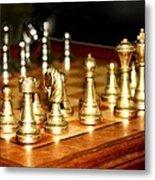 Chess Set  Metal Print by Diane Merkle