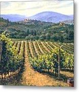 Chianti Vines Metal Print by Michael Swanson