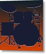 Chicago Bears Drum Set Metal Print by Joe Hamilton