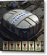 Chicago Bulls Banners Metal Print by Thomas Woolworth