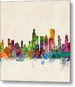 Chicago City Skyline Metal Print by Michael Tompsett