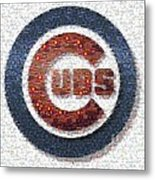 Chicago Cubs Mosaic Metal Print by David Bearden