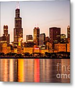 Chicago Downtown City Lakefront With Willis-sears Tower Metal Print by Paul Velgos