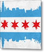 Chicago Flag Metal Print by Mike Maher